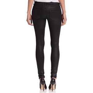 Joe's Jeans Mid Rise Coated Black Skinny Jeans